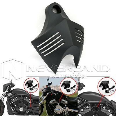 Black Twin Cowbell V-Shield Horn Cover for Harley Softail Dyna Electra 1992-2012
