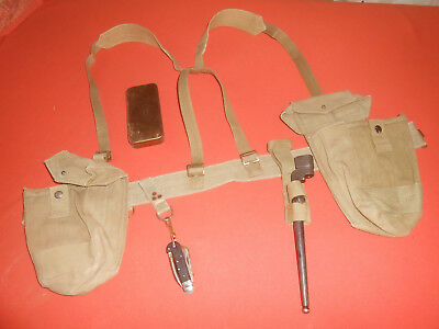 BRITISH ARMY:  SPECIAL INFANTRY EQUIPMENT , CANVAS  (for BREN ).