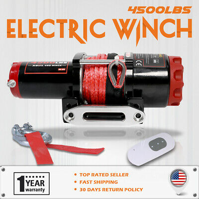 X-BULL 4500LBS / 2041KG Electric Winch 4WD 15M Synthetic Rope  Wireless ATV 12V