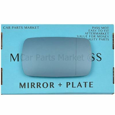 plate Right Driver Wide Angle Wing door mirror glass for BMW 5 Series 1988-1996