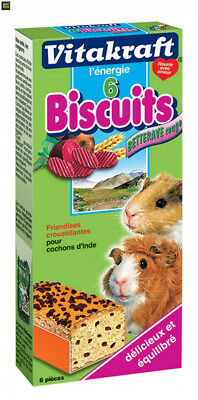 Vitakraft 25372 - Biscuits Betterave Rouge - Cochons d'Inde P/6