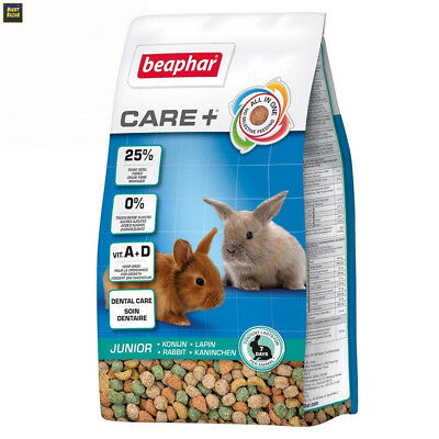 Beaphar - Care+ alimentation super premium - lapin junior - 250 g