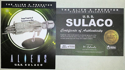 Eaglemoss Alien Collection USS Sulaco Ship ~ Limited Edition ~ 3000 Made *NEW*