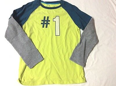 Mini Boden  9 10  #1   BRIGHT LAYERED 2 IN 1 LOOK  L/S SHIRT TOP SEE ALL AUCTION