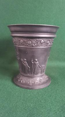 Outstanding C19th Lge Antique Wedgwood Basalt Vase Scenes of Ancients at Leisure