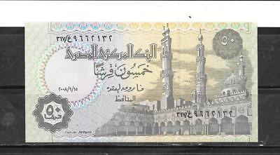 EGYPT EGYPTIAN #62k unc 2008 50 PIASTRES BANKNOTE BILL NOTE PAPER MONEY