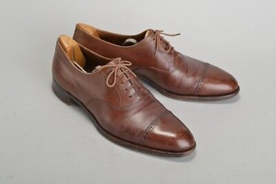 Finest J. Gane of  Eton 1930s' Bespoke s10 Narrow Shoes & Wooden Trees. JDGJ