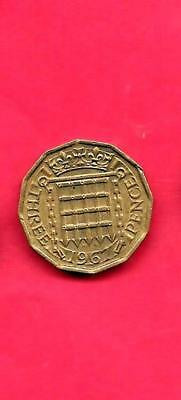 Great Britain Gb Uk 3 Pence Km900 1967 Vf-Very Fine-Nice Old Vintage Used Coin