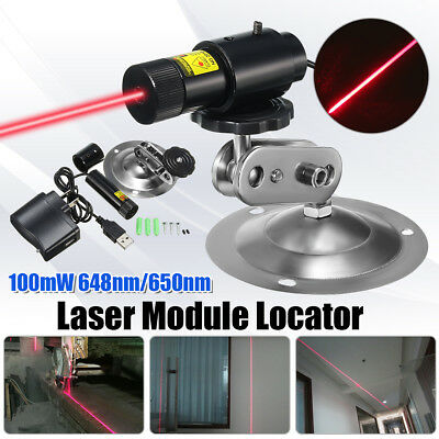 Adjustable 648nm 650nm 100mW Red Dot Laser Diode Module Lazer Locator Cutter Set