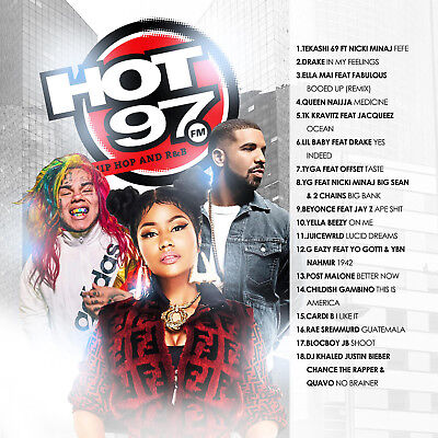 BIG MIKE - HOT 97 AUGUST 2018 (MIX CD) Tekashi 69, Ella Mai, Queen Naijja, Tyga