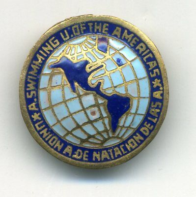Amateur Swimming Union Of The Americas. Original Pin Badge 1960 Games Olympic