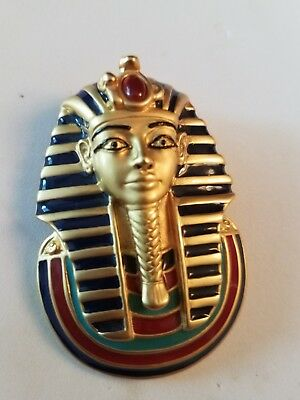 King Tut Sphinx FM Brooch and Egyptian Revival scarab pendant/Necklace