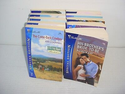 Lot of 10 Harlequin And Silhouette Special Edition Paper Back Books Pb