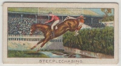 1906 Grand National  Steeple Chase Aintree England 1920s Trade Ad Card