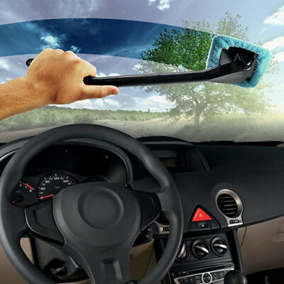 Window Cleaner Long Handle Car Wash Brush Dust Car Care Tool Windshield blue