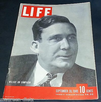 September 30, 1940 LIFE Magazine Ads Ad advertising 40s FREE SHIPPING Sept 9 29