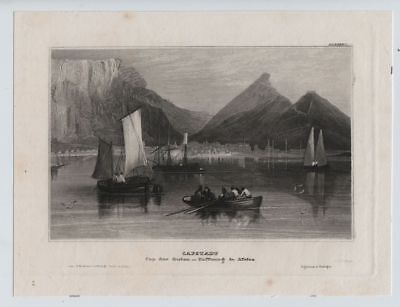 Kapstadt Cape Town, Stahlstich steel engraving ca. 1870