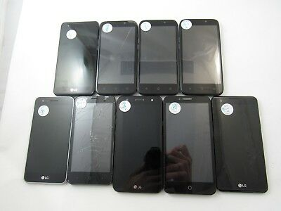 Parts and Repair Lot of 9 Assorted Phones Cricket Check IMEI 4GL-8132