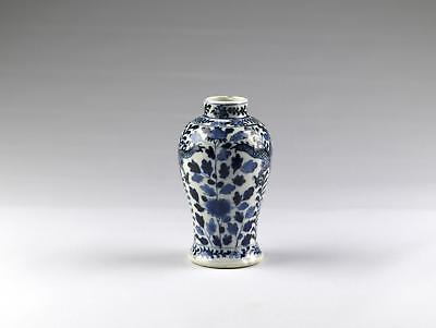 Fine Antique 19thC Chinese Qing Kangxi Mark Blue & White Porcelain Dragon Vase