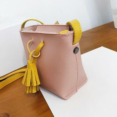 Fashion Tassel Decorated PU Leather Top-handle Single Shoulder Bag for Women Q