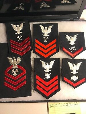 Lot Of 6 US Navy Rates 40s-60s (A508