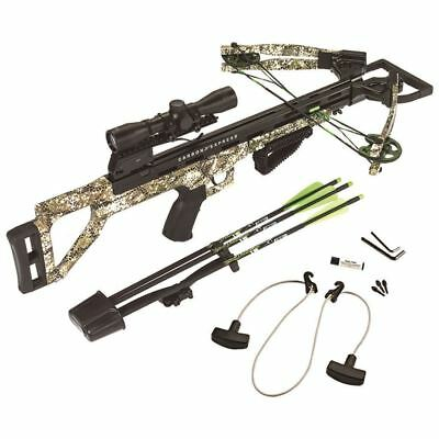 Carbon Express 20296 Covert Tyrant Ready-to Hunt Crossbow Kit Badlands Camo