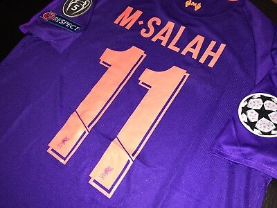 timeless design 70989 0ed83 LIVERPOOL SALAH CHAMPIONS League Official Away Jersey Size S, M, L Or Xl
