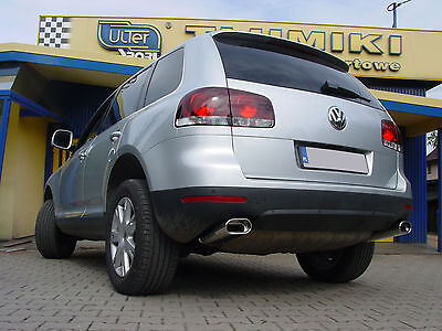 Chrome Look Exhaust End Pipe Tail Pipes Duplex VW Touareg - Top Look