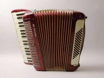 vintage HOHNER AKKORDEON  Verdi  IM     accordion      red