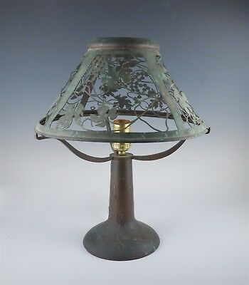 Rare Heintz Sterling Silver Overlay on Bronze Art Metal Table Lamp to Restore