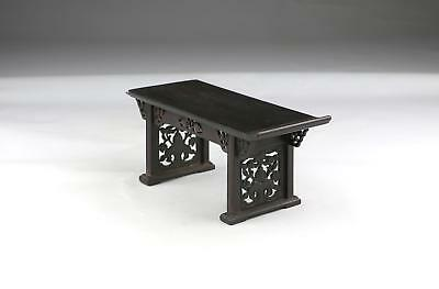 Fine Small Antique 19/20thC Chinese Qing Carved Hardwood Miniature Altar Table