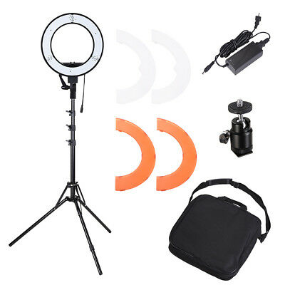"""LED Ring Light Photo Stand Lighting 13"""" 35W 5500K Dimmable Studio Video Camera"""