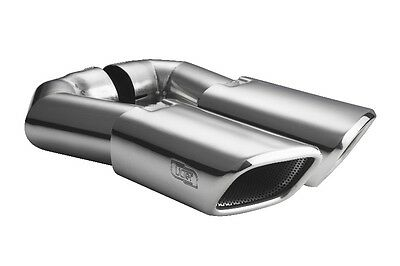 Duplex VW Touareg 7LA 7L6 7L7 Exhaust End Pipe Tail Stainless Steel 4 1/8x3