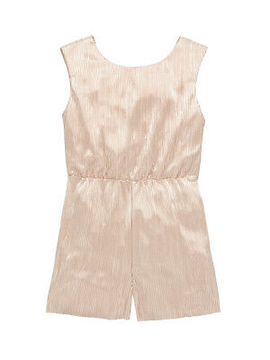 V by Very Party Metallic Playsuit in Soft Pink Size 15-16 Years