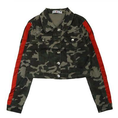 Teen G's Girls Camo Distressed Jacket Size 7 8 10 12 14 16