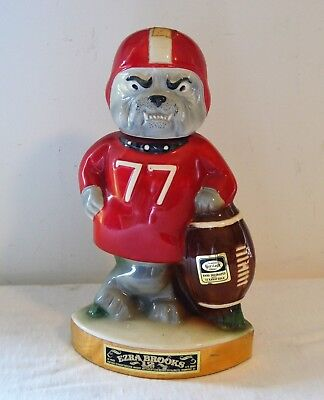 Vintage Rare 1971 Georgia Bulldogs SEC Football Player Decanter Ezra Brooks