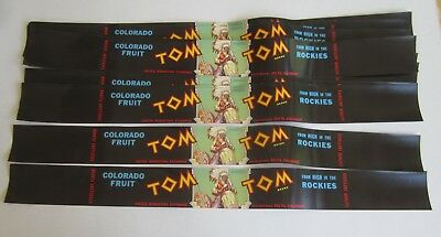 Wholesale Lot of 25 Old Vintage - TOM TOM Colorado Fruit LABELS - Indian - Drum