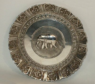 Antique Anglo-Indian Sterling Silver Pin Tray or Dish, ca. 1900