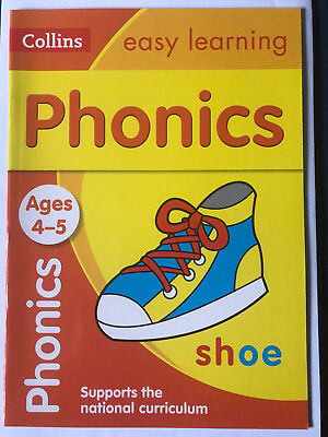 Brand New Collins Easy Learning Practice Book Ages 4-5, Phonics