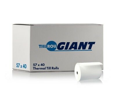 57x40 Thermal Paper Till Roll (100 Rolls) Compatible With Credit Card Machines