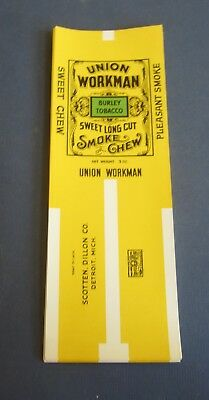 Wholesale Lot of 50 Old Vintage - UNION WORKMAN - Smoke or Chew TOBACCO LABELS