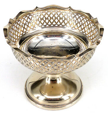 Silver Tazza Comport Or Bowl Circular Form On A Spreading Foot By