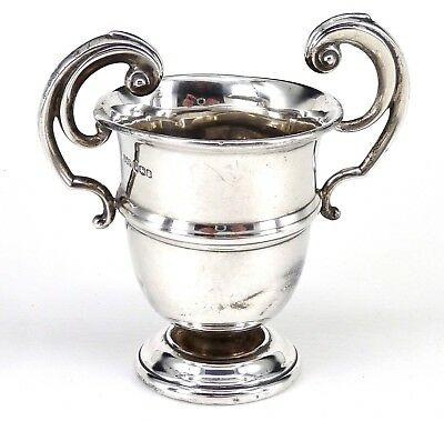 Sterling Silver Vase Or Trophy 1933 Hallmarked By John Henry Potter 6.1 Ounces
