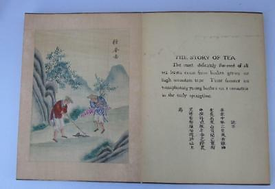 Antique Chinese Book - The Story of Tea - Carved Wooden Cover