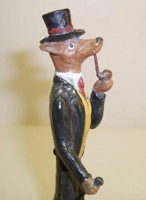 Rare COLD PAINTED BRONZE Vintage MR HOUND Figure/Miniature Greyhound/Whippet DOG