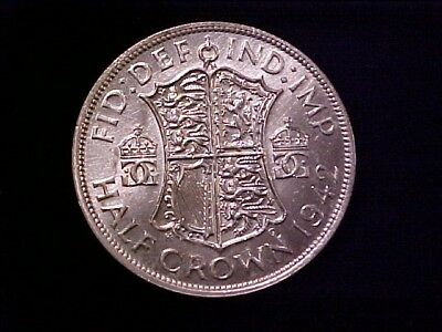 Great Britain Half Crown Silver 1942 Bu George Vi