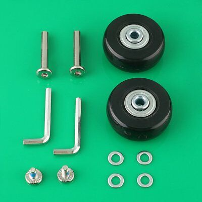 2 Set OD45mm Luggage Suitcase Wheels Repair Kit Axles Replacement Wheels