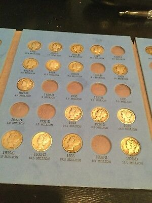 Mercury Dime Partial Set(62 Different)