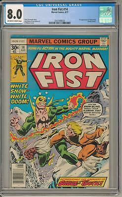 Iron Fist #14 CGC 8.0 (OW-W) 1st Appearance of Sabertooth