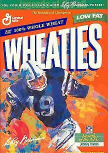 Wheaties Johnny Unitas Baltimore Colts Cereal Box